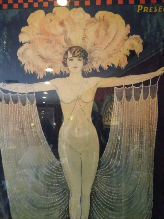 HUGE VINTAGE POLA NERY FRENCH COLOR LITHOGRAPH ADVERTIS - 8