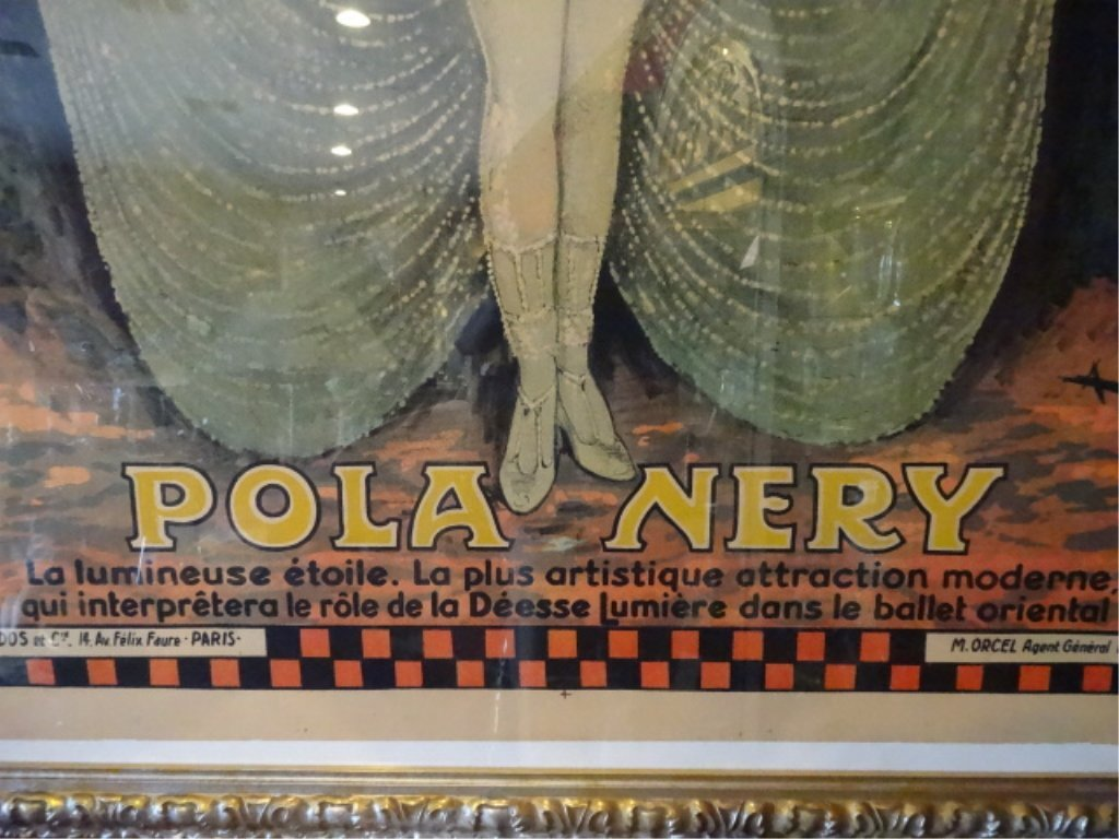 HUGE VINTAGE POLA NERY FRENCH COLOR LITHOGRAPH ADVERTIS - 9