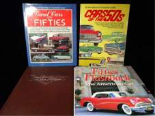 4 PC AUTOMOBILE BOOKS, 1950'S CARS (ONE BOOK IS