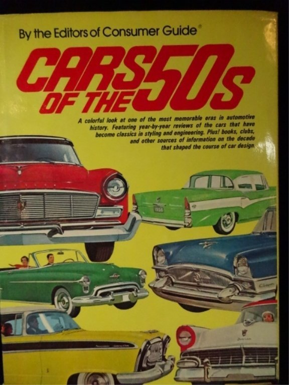 4 PC AUTOMOBILE BOOKS, 1950'S CARS (ONE BOOK IS - 3
