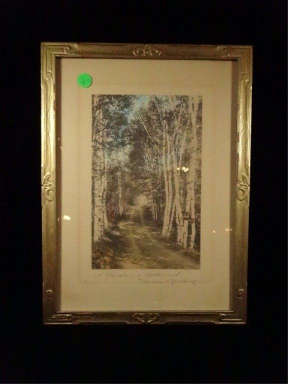 WALLACE NUTTING HAND TINTED PHOTOGRAPH, TITLED A