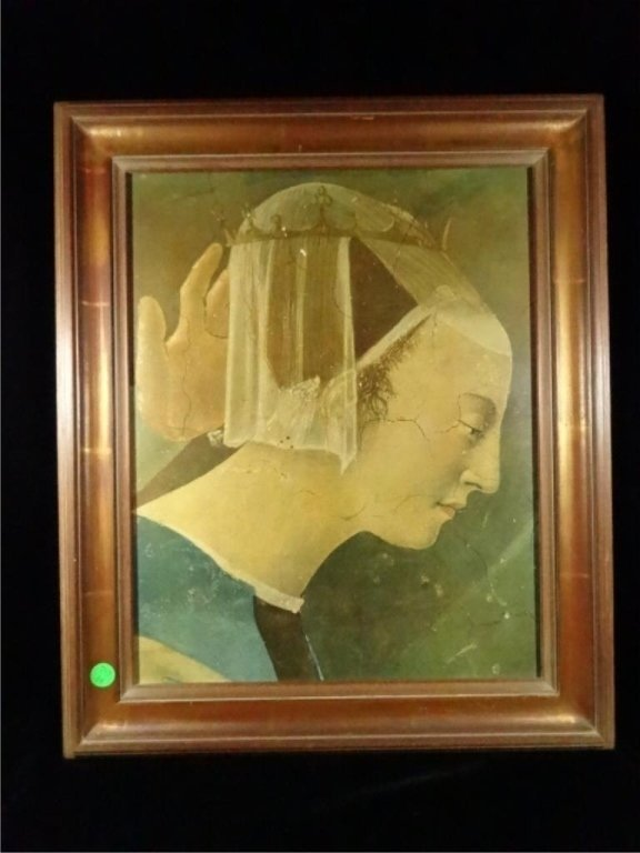 FRAMED PRINT, CLASSICAL PAINTING, ON BOARD, FRAMED SIZE