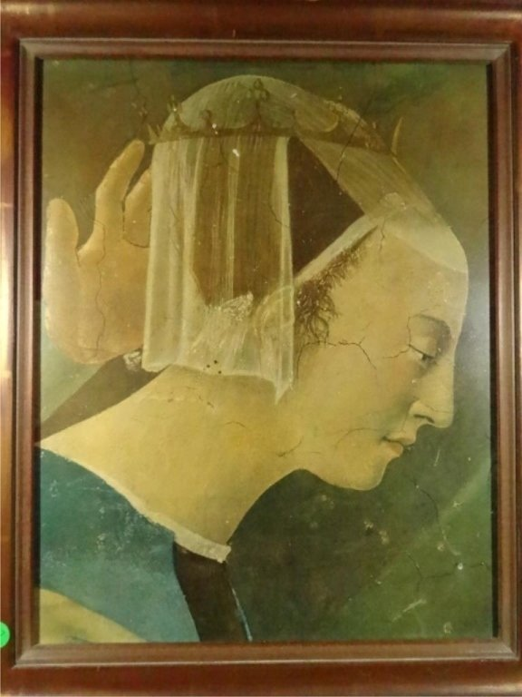FRAMED PRINT, CLASSICAL PAINTING, ON BOARD, FRAMED SIZE - 2