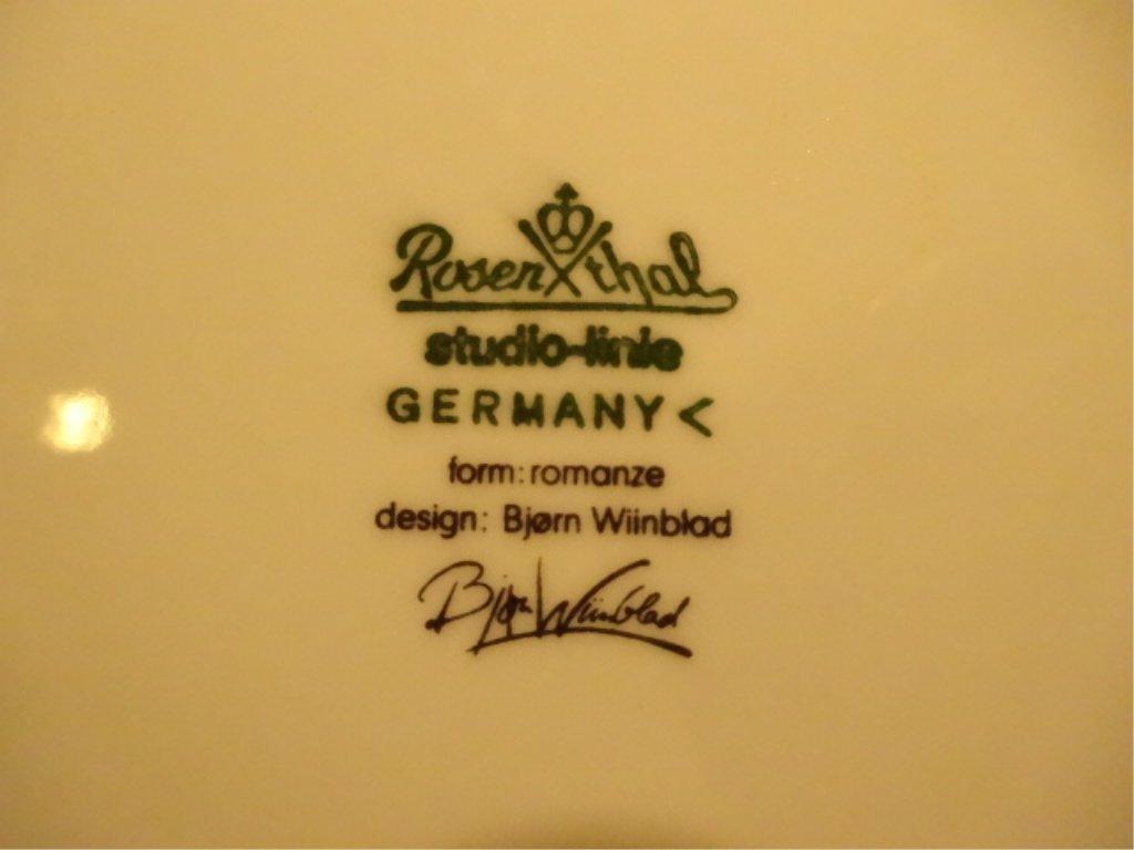 37 PC ROSENTHAL CHINA ROMANZE PATTERN BY BJORN WINBLAD, - 7