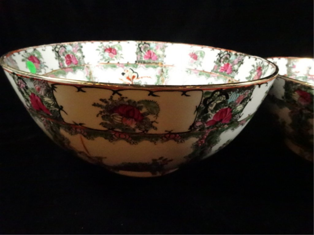 """2 CHINESE BOWLS, LARGER APPROX 6.25""""H X 14 1/8"""", - 2"""