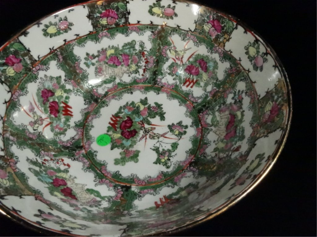 """2 CHINESE BOWLS, LARGER APPROX 6.25""""H X 14 1/8"""", - 5"""