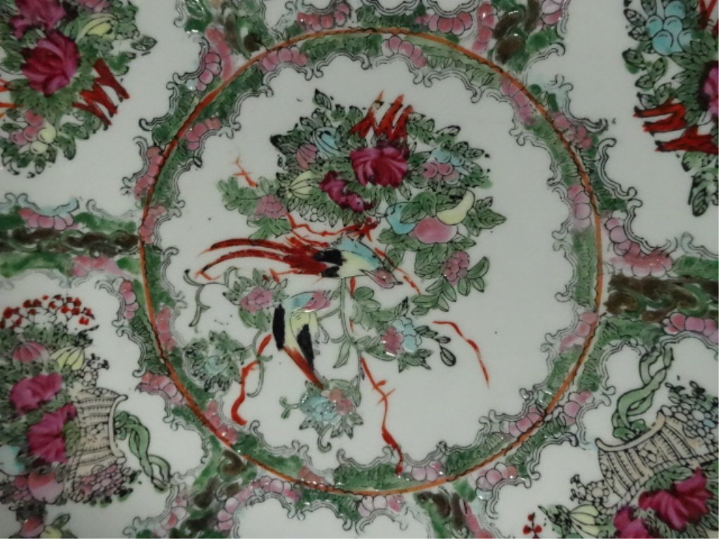 """2 CHINESE BOWLS, LARGER APPROX 6.25""""H X 14 1/8"""", - 8"""
