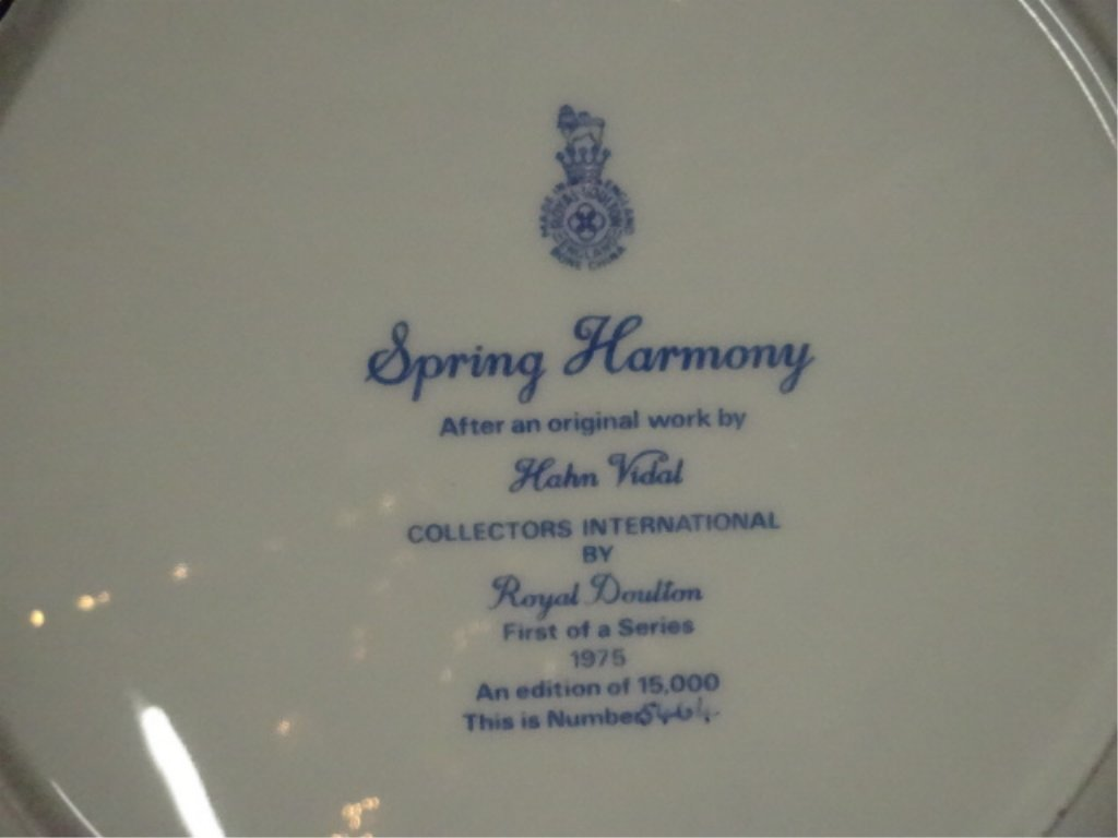 ROYAL DOULTON COLLECTOR PLATE, SPRING HARMONY, 1975, - 5