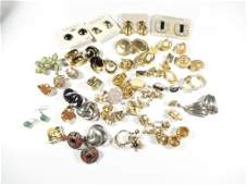 GROUP OF ASSORTED COSTUME JEWELRY ALL CLIP AND PIERCED