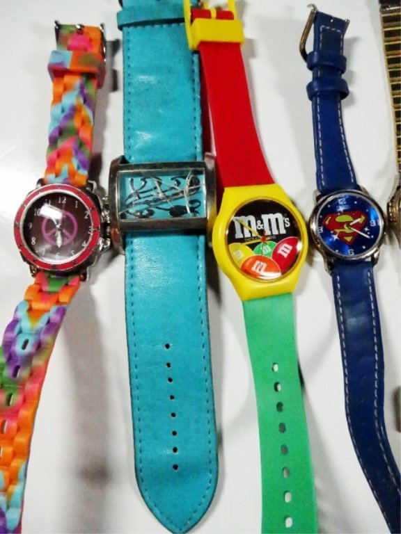 12 ASSORTED WATCHES, INCLUDES M&M'S AND SUPERMAN - 2