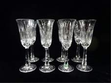 8 WATERFORD CRYSTAL LISMORE CHAMPAGNE FLUTES APPROX 8