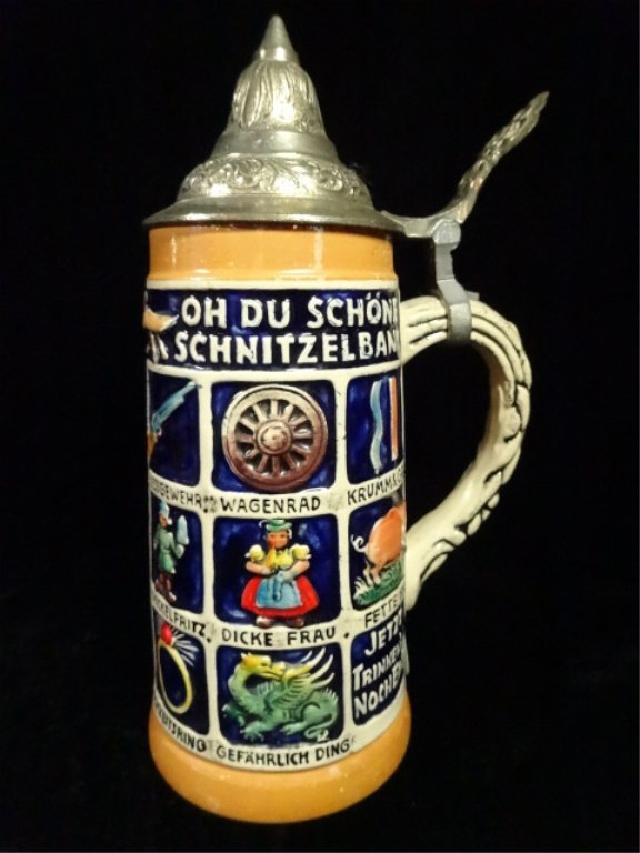 3 PC BEER STEINS, MADE IN GERMANY, INCLUDES GERZ AND - 7