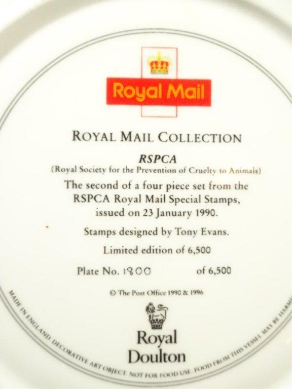 4 LIMITED EDITION ROYAL DOULTON PLATES, ROYAL MAIL - 3