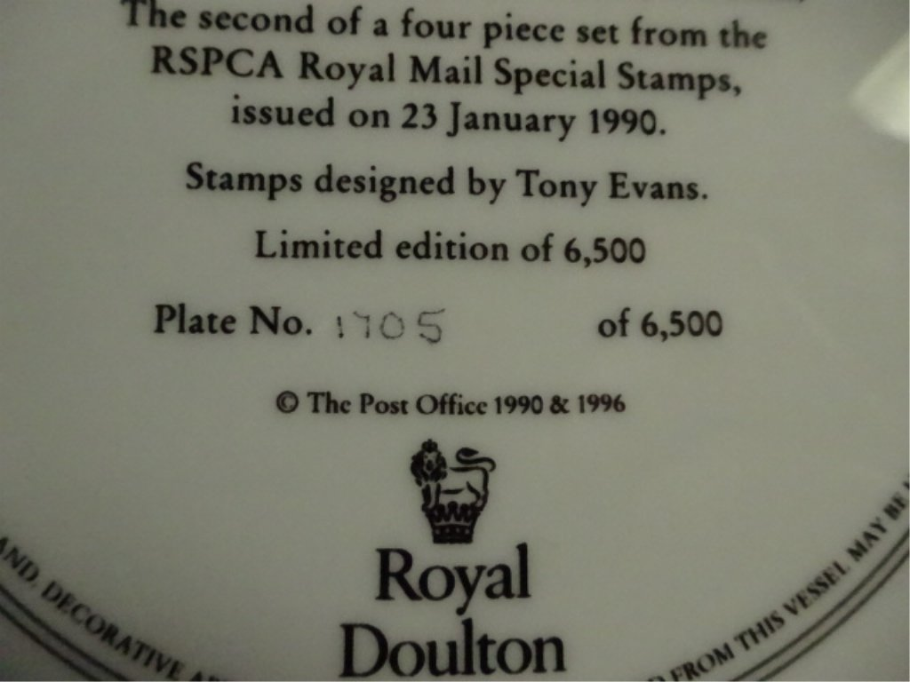 4 LIMITED EDITION ROYAL DOULTON PLATES, ROYAL MAIL - 5