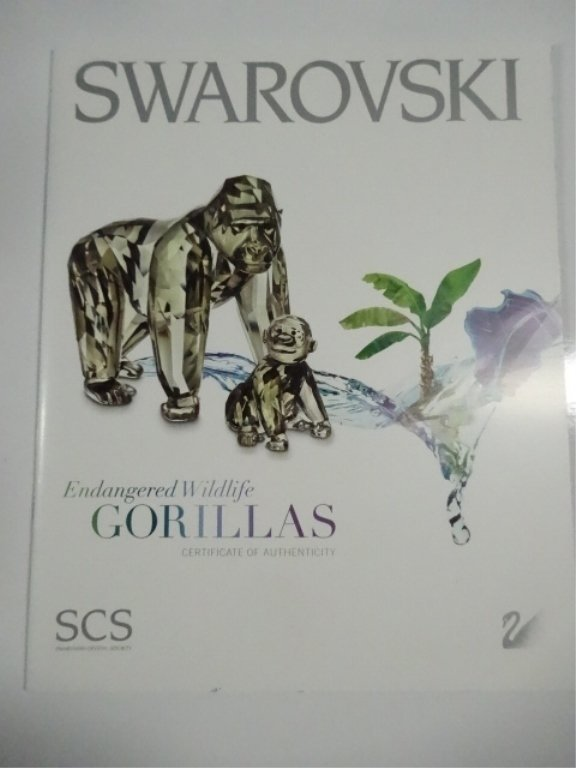 SWAROVSKI CRYSTAL GORILLAS, 2009 SCS ANNUAL EDITION, - 4