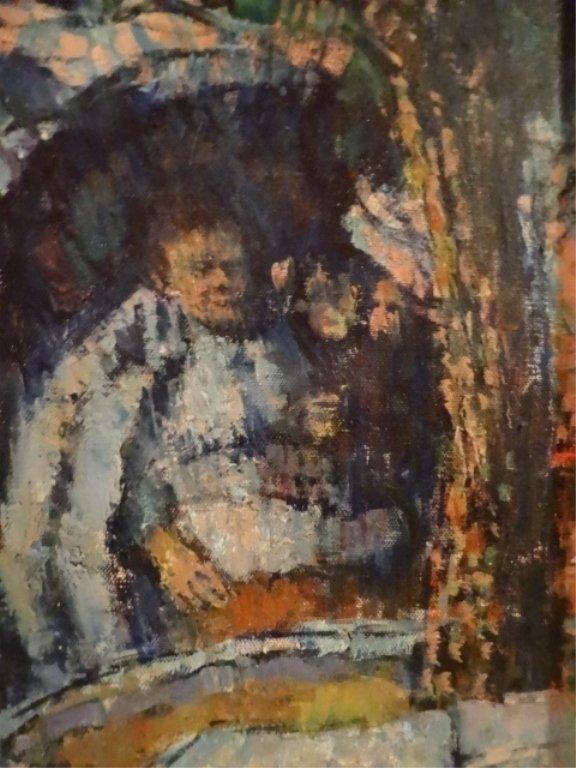 HARRY ZEE HOFFMAN OIL PAINTING ON CANVAS, LISBON PARK - 4