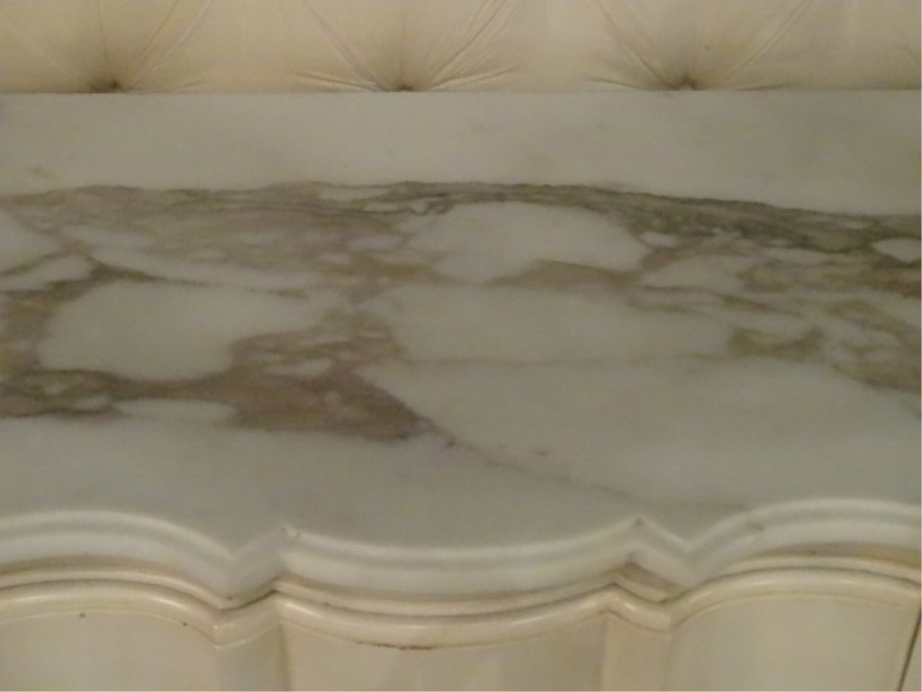 4 PC KING LOUIS XV STYLE BEDROOM SET, WHITE AND GOLD, - 7