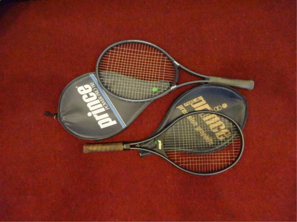 2 PC TENNIS RACKETS, INCLUDES PRINCE POWER PRO 110 &