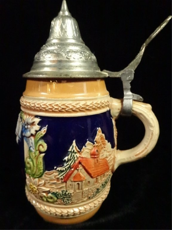 2 PC BEER STEINS, MADE IN WEST GERMANY, 1 IS GERZ, 1 IS - 7