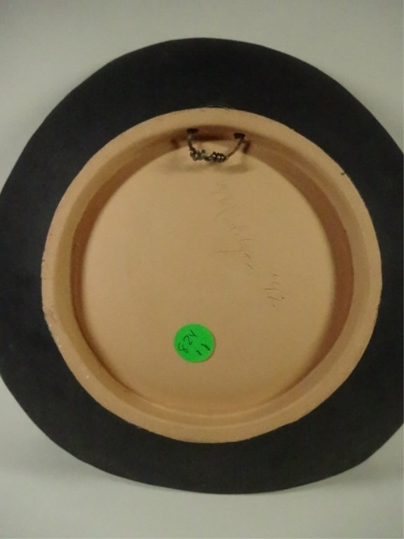 ART POTTERY BOWL, WITH HANGER, SIGNED BY ARTIST, APPROX - 5