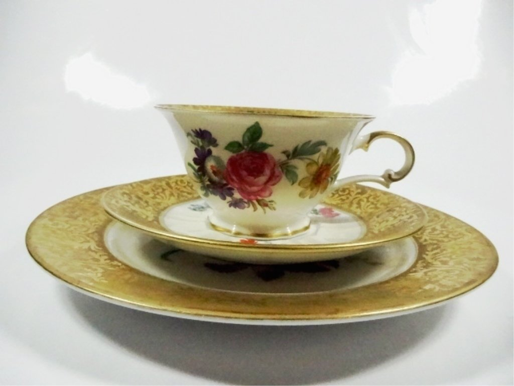 3 PC ROSENTHAL CHINA ALT BRABANT GOLD CUP, SAUCER &