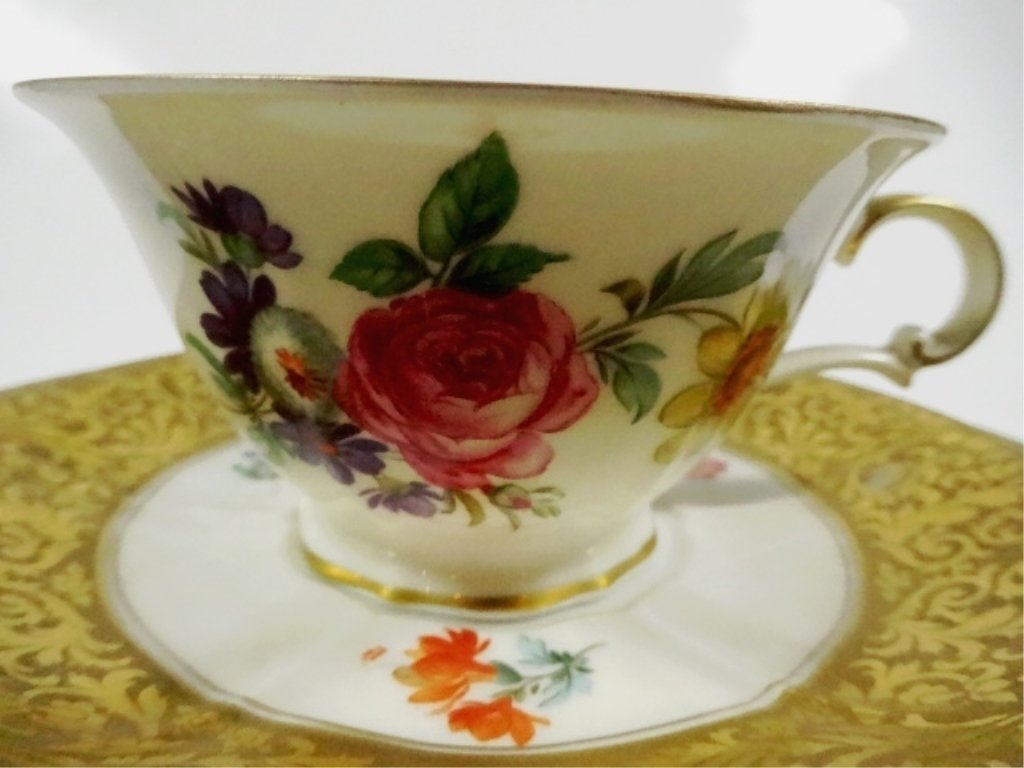 3 PC ROSENTHAL CHINA ALT BRABANT GOLD CUP, SAUCER & - 2