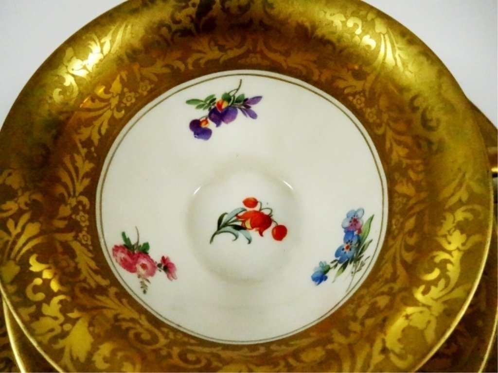 3 PC ROSENTHAL CHINA ALT BRABANT GOLD CUP, SAUCER & - 4