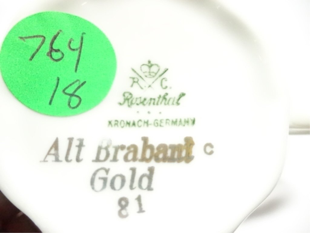 3 PC ROSENTHAL CHINA ALT BRABANT GOLD CUP, SAUCER & - 5