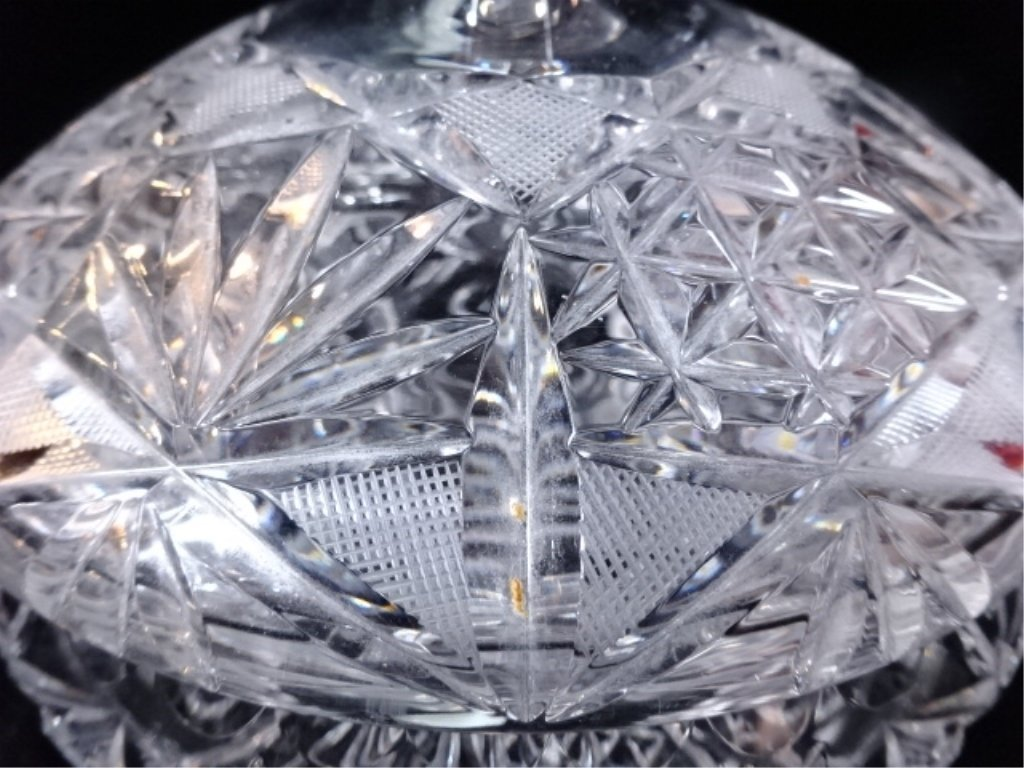 CRYSTAL CANDY DISH WITH LID, EXCELLENT CONDITION, - 4