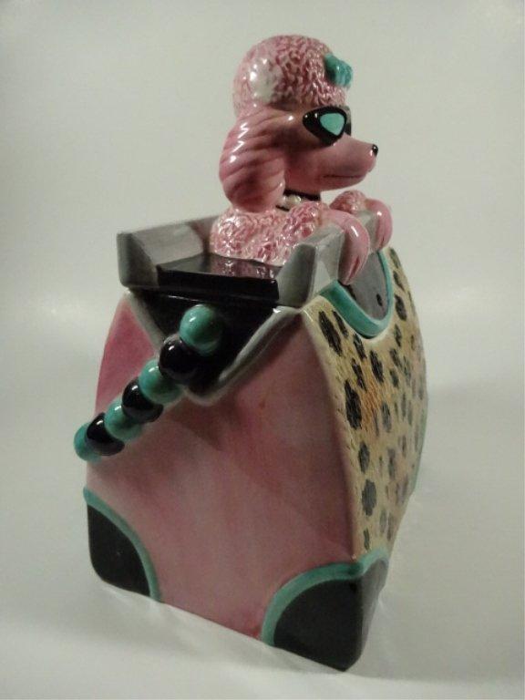 PINK POODLE IN PURSE COOKIE JAR, BY VANDOR, MISSING - 2