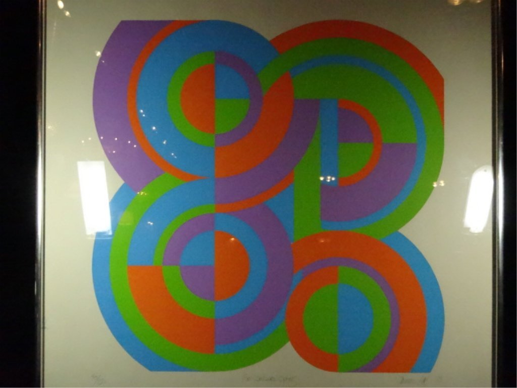 THOMAS LAHY LIMITED EDITION SERIGRAPH, TITLED FOUR - 2