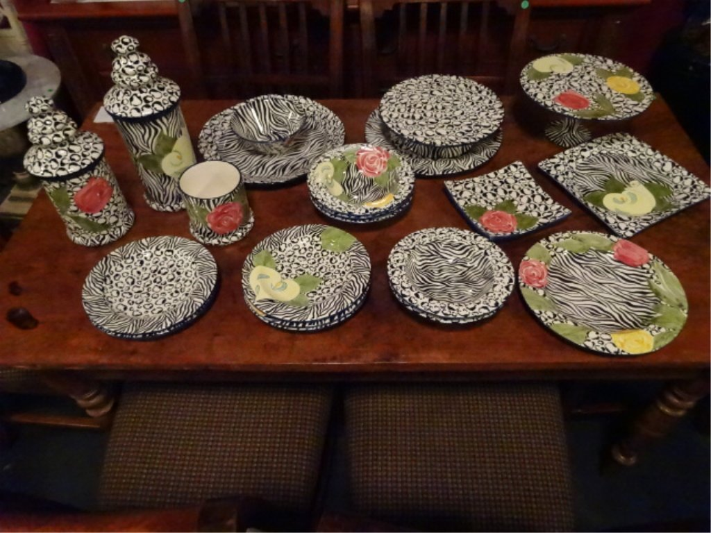 LAURIE GATES CHINA, SERENGETI PATTERN, INCLUDES 2