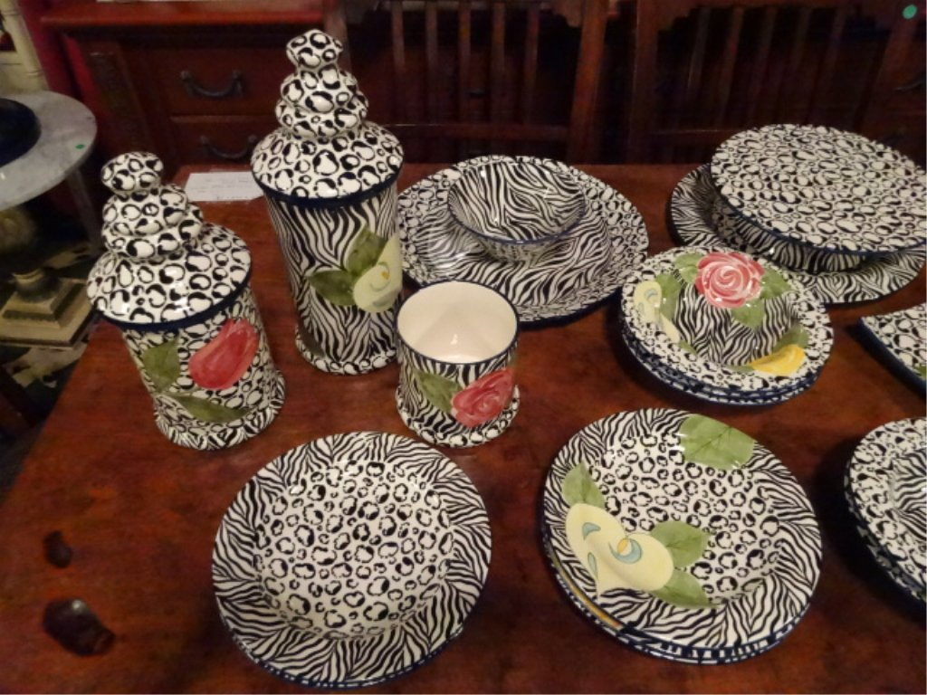 LAURIE GATES CHINA, SERENGETI PATTERN, INCLUDES 2 - 2