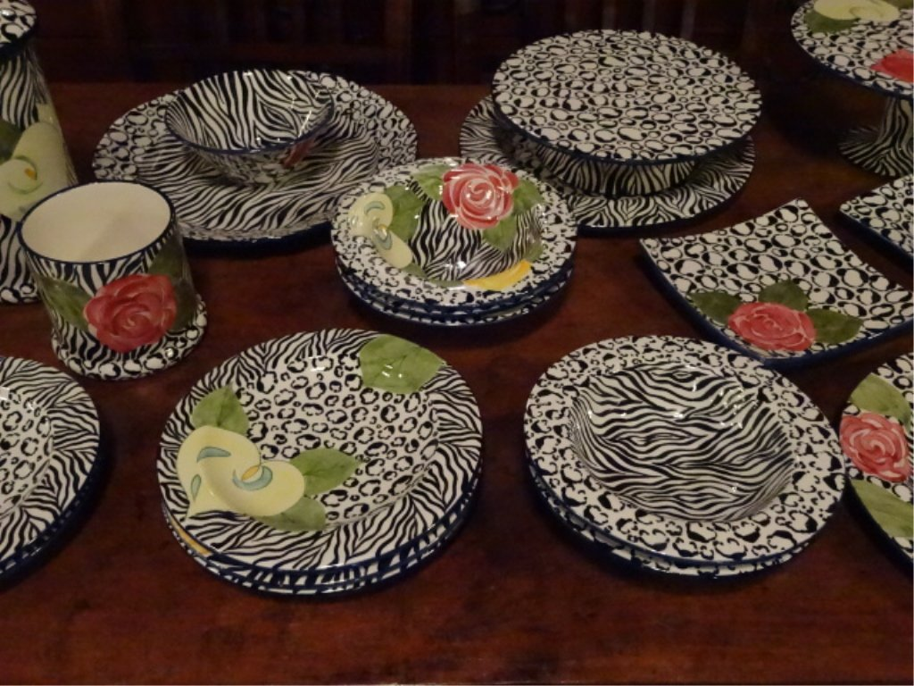 LAURIE GATES CHINA, SERENGETI PATTERN, INCLUDES 2 - 3