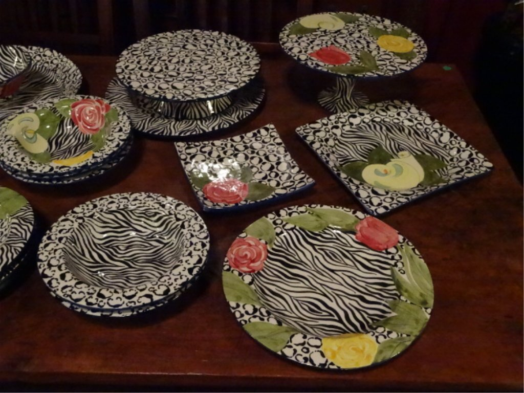 LAURIE GATES CHINA, SERENGETI PATTERN, INCLUDES 2 - 4