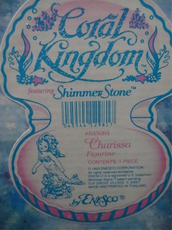 5 PC ENESCO CORAL KINGDOM SHIMMER STONE PORCELAIN - 3