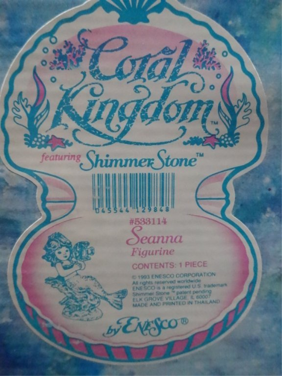 5 PC ENESCO CORAL KINGDOM SHIMMER STONE PORCELAIN - 5