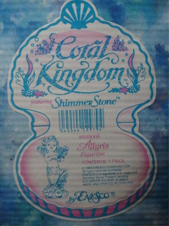 5 PC ENESCO CORAL KINGDOM SHIMMER STONE PORCELAIN - 9