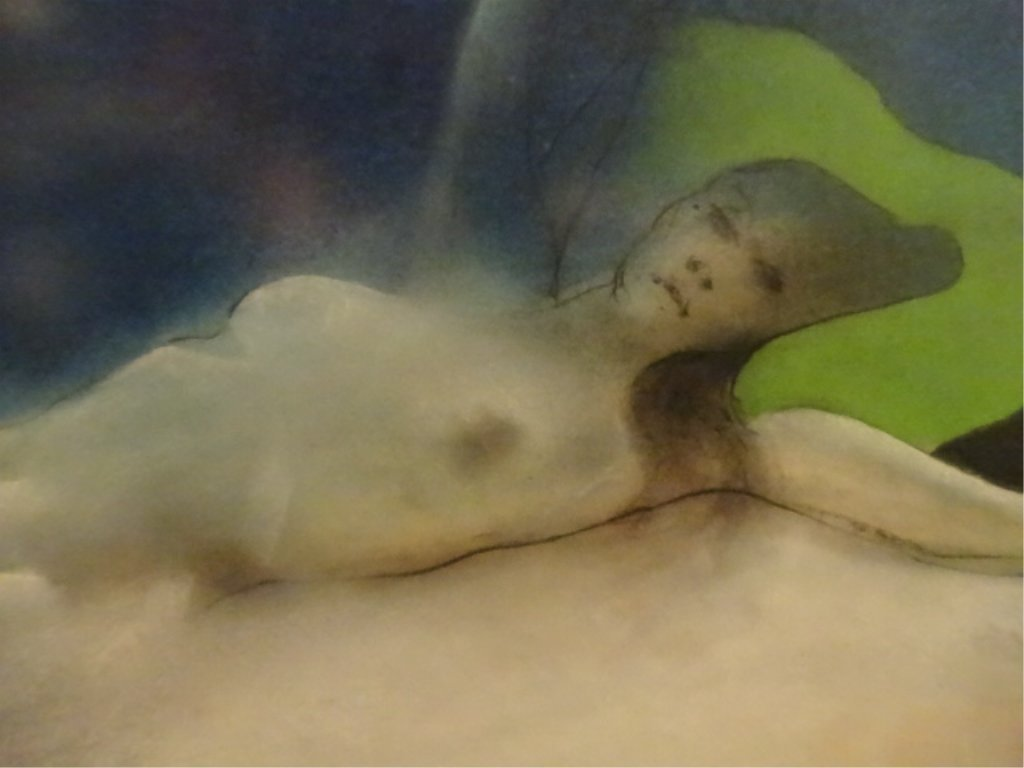 LARGE PRINT, RECLINING FEMALE NUDE, IN ORNATE GOLD - 3