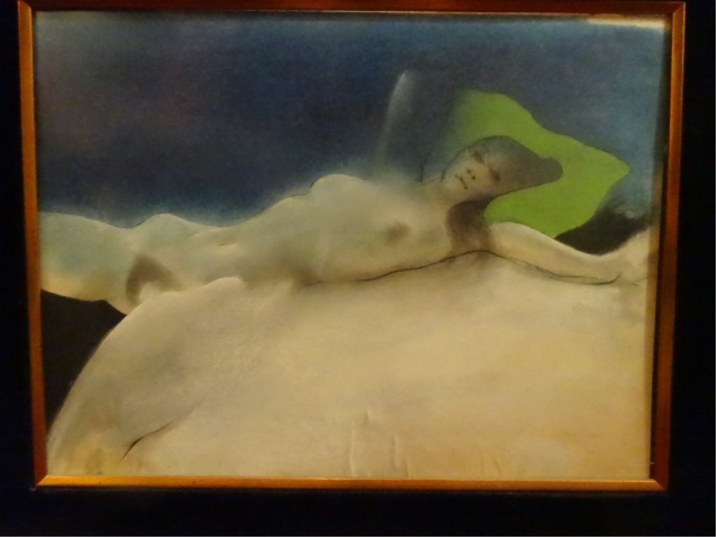 LARGE PRINT, RECLINING FEMALE NUDE, IN ORNATE GOLD - 5