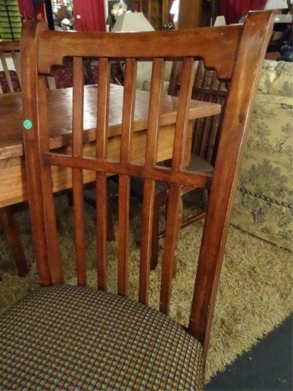 CIRCA 1900 WALNUT FARM TABLE, HAND TURNED LEGS, SOLID - 2