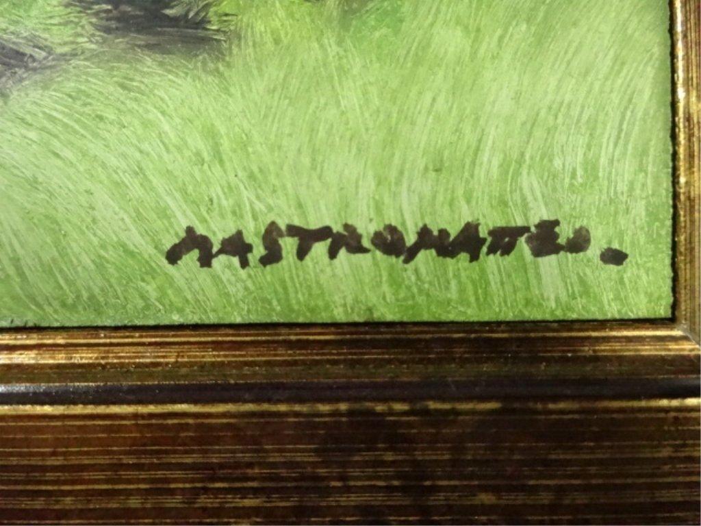 3 JUAN MASTROMATTEO OIL ON BOARD PAINTINGS, INCLUDES #1 - 3