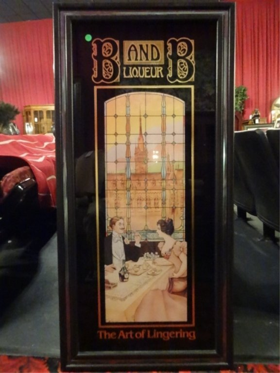 REPLICA B AND B LIQUEUR ADVERTISING POSTER, FRAMED SIZE