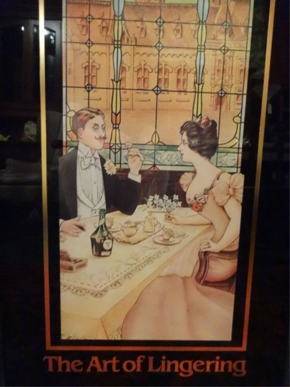 REPLICA B AND B LIQUEUR ADVERTISING POSTER, FRAMED SIZE - 4