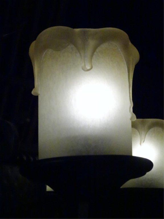 LARGE 22 LIGHT GOTHIC REVIVAL CHANDELIER, BLACK METAL - 6