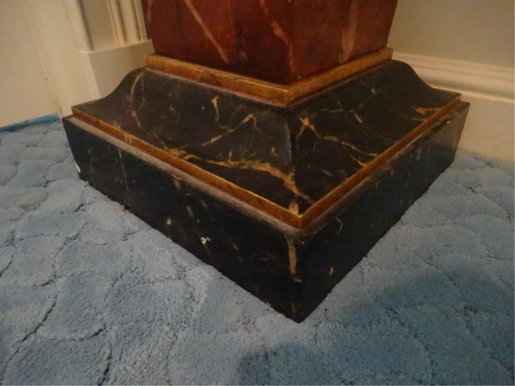 NEOCLASSICAL WOOD PEDESTAL, #2 OF TWO AVAILABLE, FAUX - 4