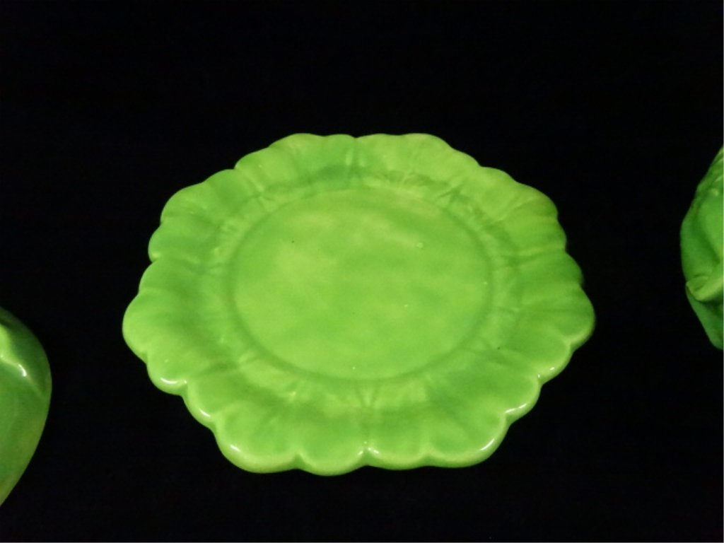 VINTAGE HOLLAND MOLD GREEN CABBAGE BOWL WITH LID AND - 4