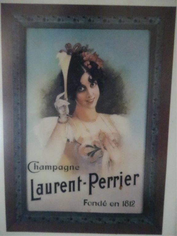 FRAMED CHAMPAGNE LAURENT - PERRIER PRINT, FRAMED SIZE - 2