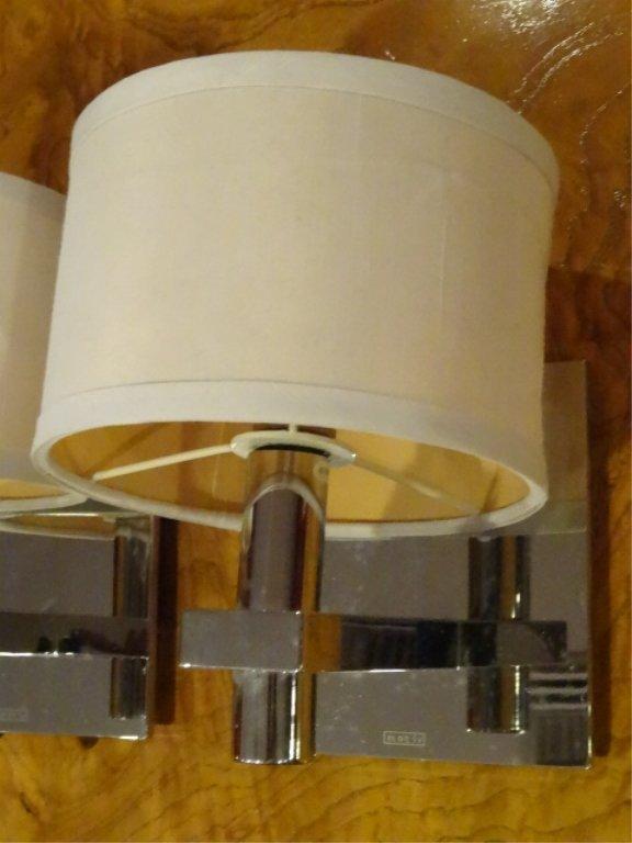 PAIR MOTIV ELECTRIC CHROME WALL SCONCES, MODERN DESIGN, - 3