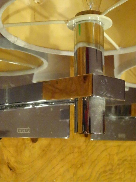 PAIR MOTIV ELECTRIC CHROME WALL SCONCES, MODERN DESIGN, - 4